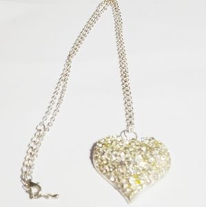 187. Hollow Heart Pendant Necklace